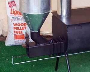 Attachment That Transforms Wood Burning Stove Into Pellet Gravity Feed System Needs No External Source Operates 10 To 12 Hours On 40lbs Of